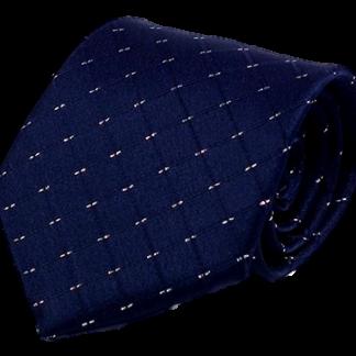 Mörkblå slips med silverstreck