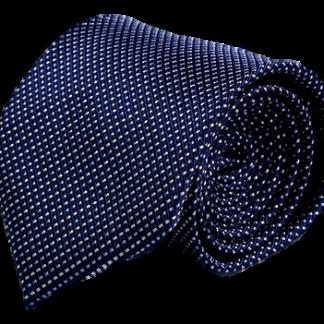 Blå slips med vita och ljusblå prickar 8cm