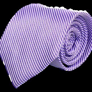 Ljuslila slips med randigt mönster 8cm