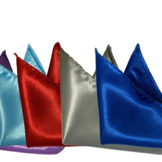 Näsdukar siden - Flera olika färger