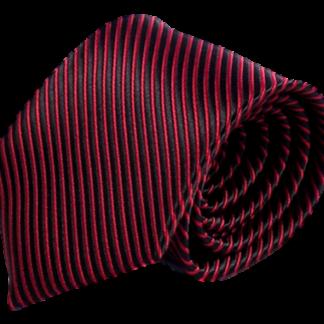 Röd och svart slips 8 cm
