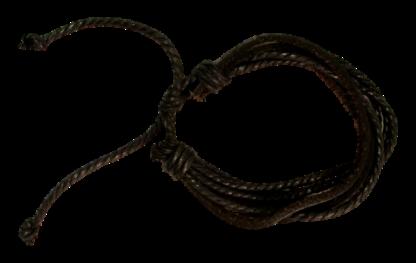 Armband Svart Läder Snören