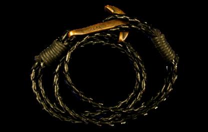 Svart armband med ankare antikt