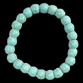 Armband med turkos pärlor