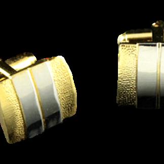 Manschettknappar Guld Silverfärgad
