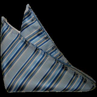 Bröstnäsduk Ljusblå med Mörkblå ränder