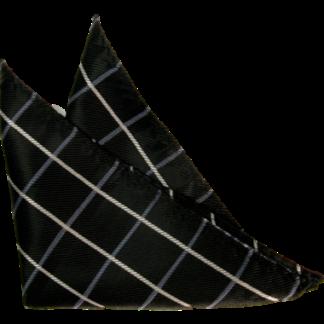 Bröstnäsduk Mörkblå med rutmönster