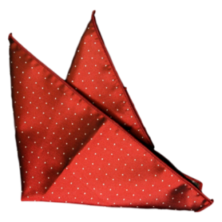 Bröstnäsduk Röd med vita prickar