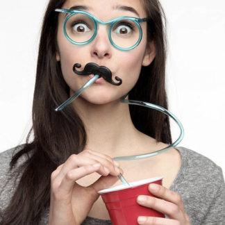 Sugrörsglasögon för festen