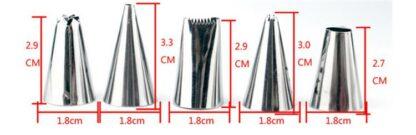 24st Spritstyllar med koppling - Sprits set i rostfritt stål