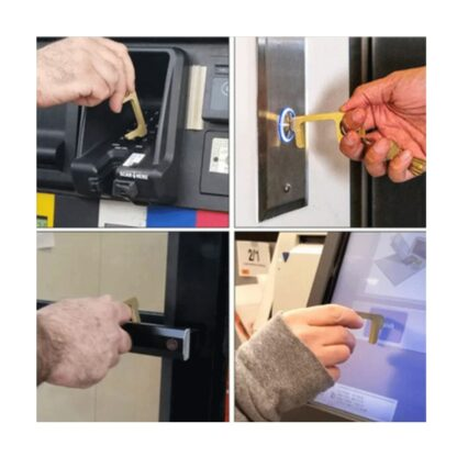 Hygienisk Nyckelring med Dörröppnare - Flera användningsområden
