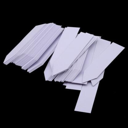 Plantetikett 10-pack i plast - Vit