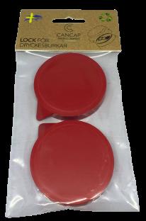 Lock till läskburk - 2-pack - Röd